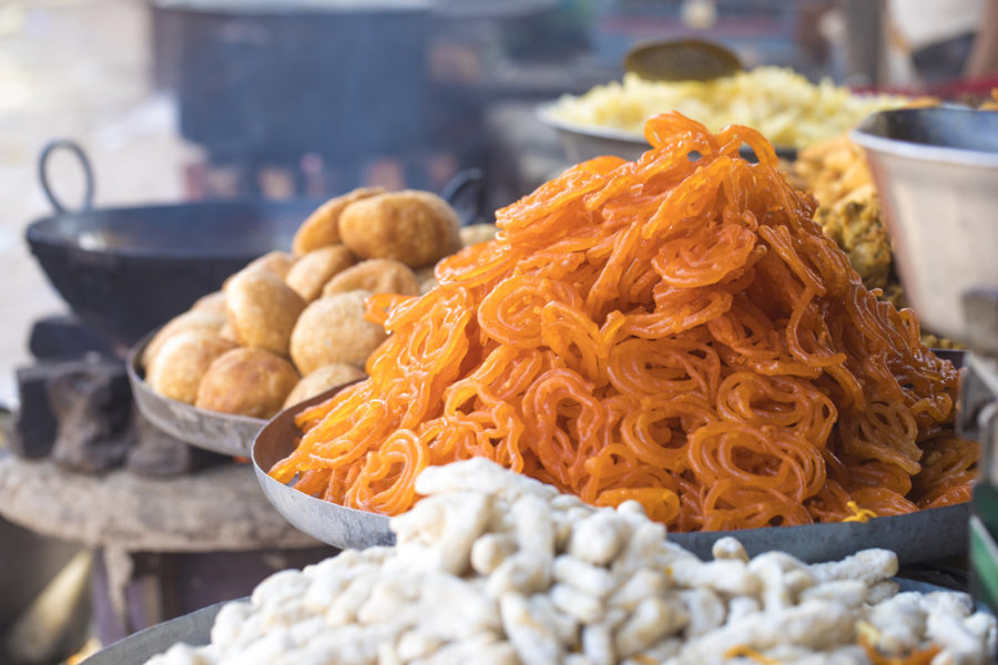 Nordnidisches Dessert Kesari Jalebi
